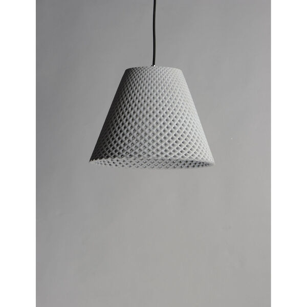 Woven Gray and Black One-Light Pendant, image 3