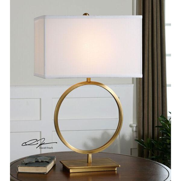 Duara Brushed Brass One-Light Table Lamp, image 2