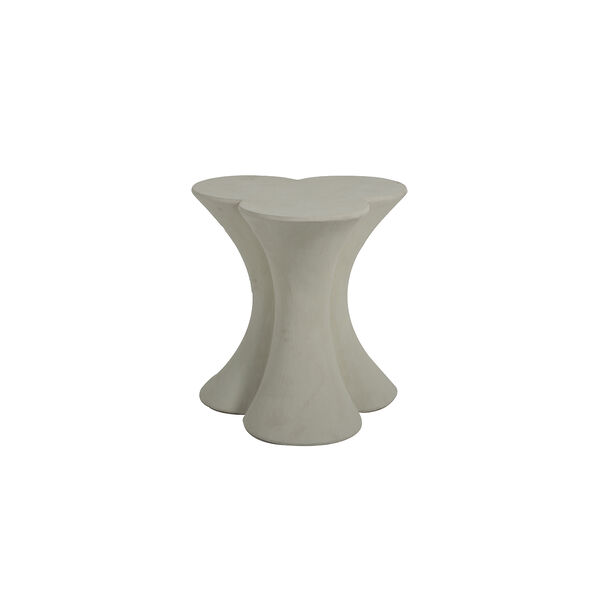 Carlin Textured Misty White End Table, image 1