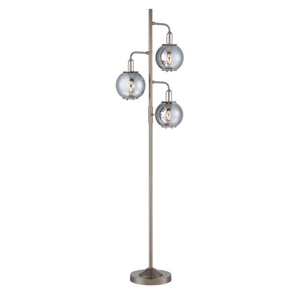 Kaira Gun Metal Three-Light Floor Lamp, image 1