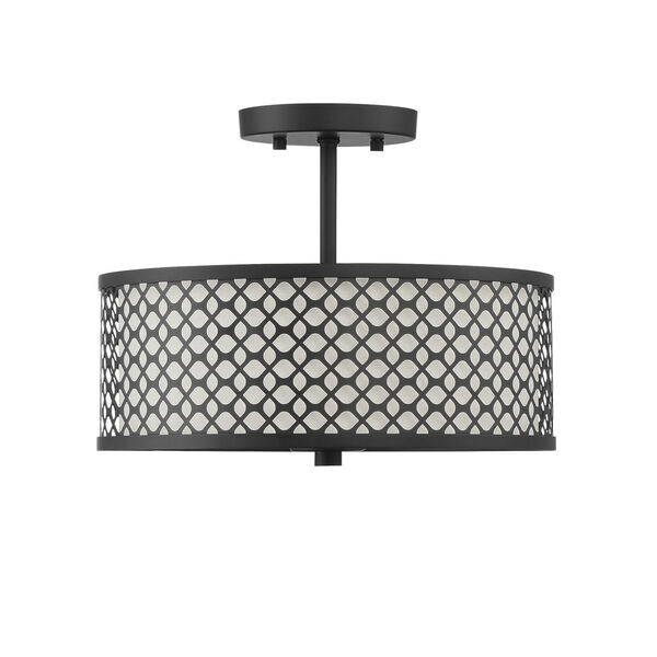 Nicollet Matte Black Two-Light Semi Flush Mount, image 4