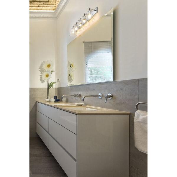 Harper Chrome Five-Light Bath Vanity, image 3