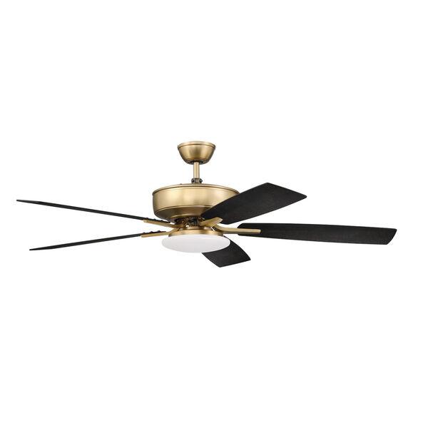 Pro Plus Satin Brass 52-Inch LED Ceiling Fan, image 1