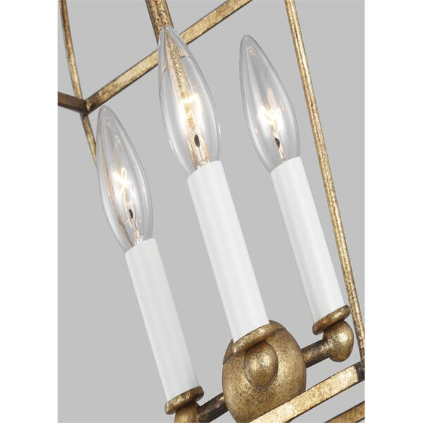 Stonington Antique Gold Three-Light Chandelier, image 6