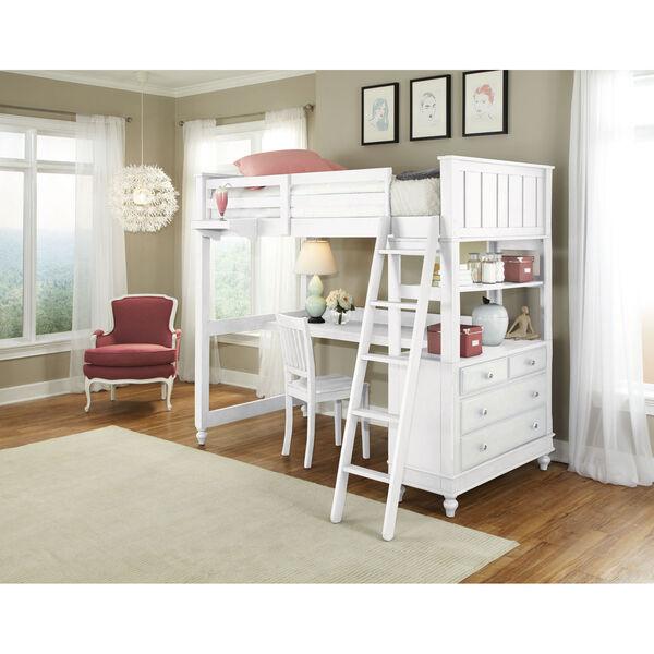 Lake House White Twin Loft with Desk, image 1