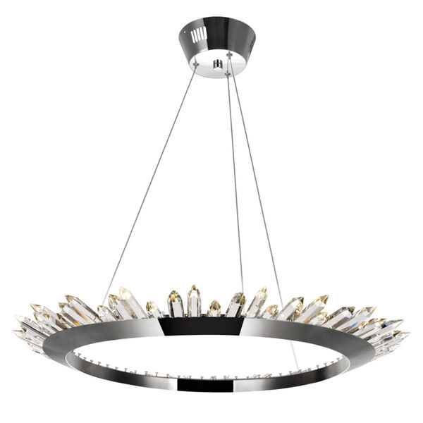 Arctic Queen Polished Nickel 32-Inch LED Chandelier, image 1