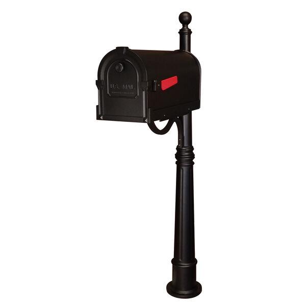 Savannah Black Curbside Mailbox with Ashland Mailbox Post Unit, image 1
