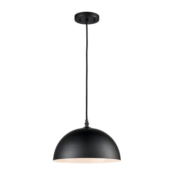 Chelsea Black 12-Inch One-Light Pendant, image 1