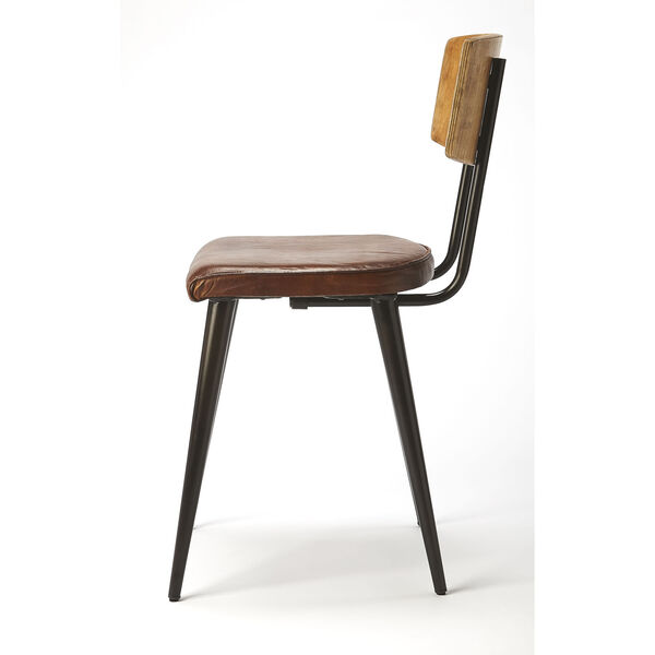 Brown 32-Inch Side Chair, image 4