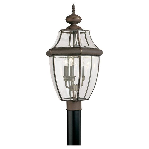 Antique Bronze Outdoor Post Lantern, image 1