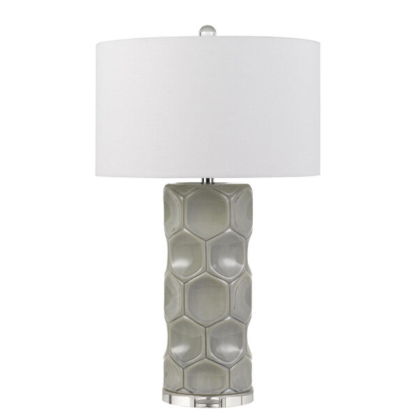 Melfi Gray and White One-Light Table Lamp, image 1