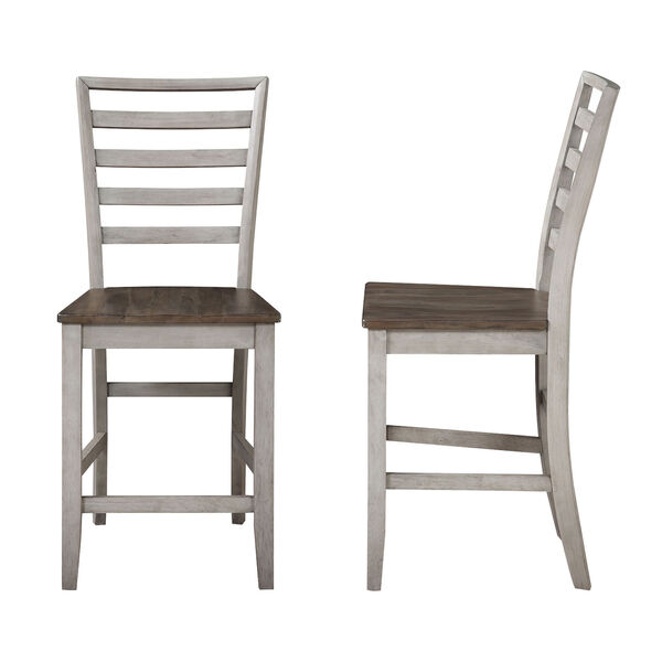 Abacus Smoked Alabaster and Honey Counter Chair, image 1
