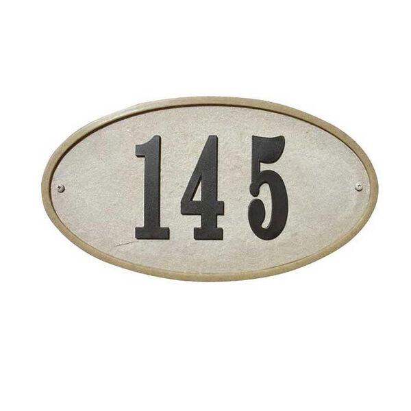 Ridgestone Sandstone Oval Crushed Stone Do It Yourself Kit Address Plaque, image 1