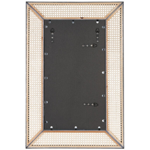 Dani Cane and White Wood 36-Inch x 24-Inch Wall Mirror, image 6