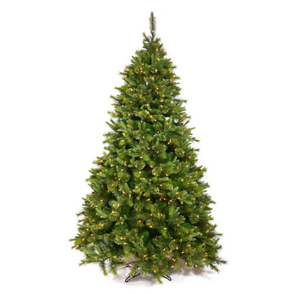 Cashmere Potted and Non Potted 9.5-Foot Christmas Tree w/1000 Clear Dura-Lit Lights and 2168 Tips, image 1