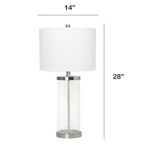 Cerise Brushed Nickel White One-Light Table Lamp, image 3