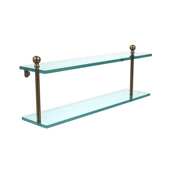 Brushed Bronze 22 x 5 Glass Shelf, image 1