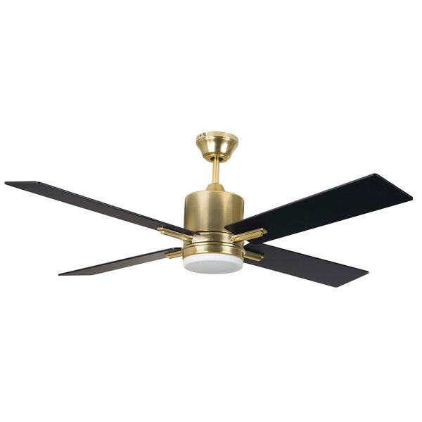 Teana Satin Brass Led 52-Inch Ceiling Fan, image 1