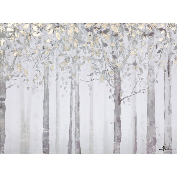 Grey and Yellow Trees: 40 x 28-Inch Wall Art, image 1