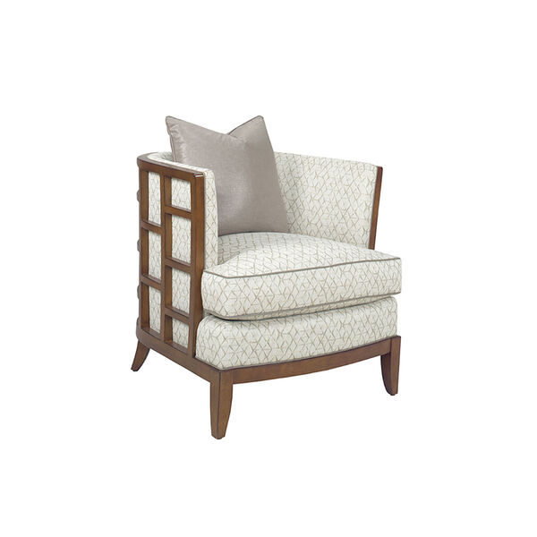 Ocean Club Brown and White Abaco Chair, image 1