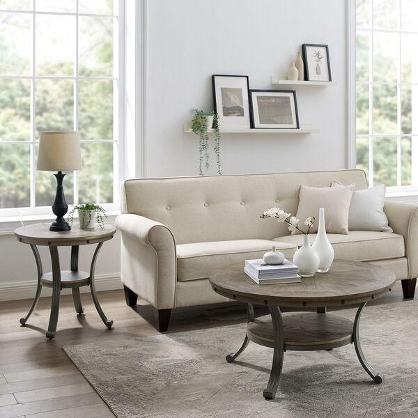 Elizabeth Pewter Round Coffee Table, image 6