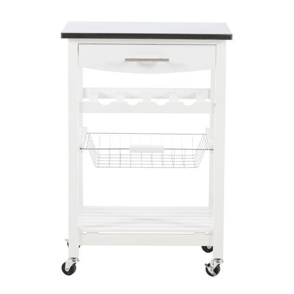 Autumn White Kitchen Cart, image 1