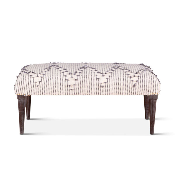 Algiers Off White and Black Accent Bench, image 1
