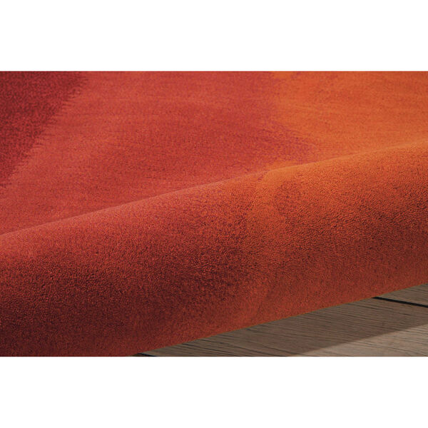 Luster Wash Russet Tones Rust Rectangular: 4 Ft. x 6 Ft. Rug, image 5