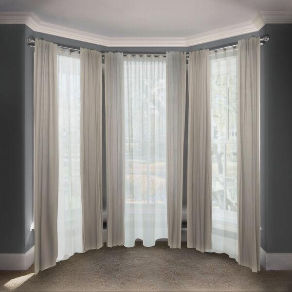 Eleanor Satin Nickel 108-Inch Bay Window Double Curtain Rod, image 2