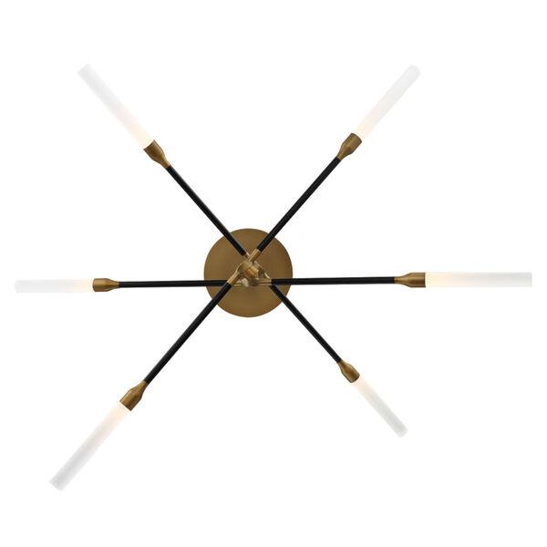 Houdini Black Aged Brass Six-Light LED Chandelier, image 3
