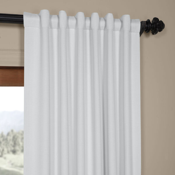 White Oyster 84 x 50 In. Faux Linen Blackout Curtain Single Panel, image 4