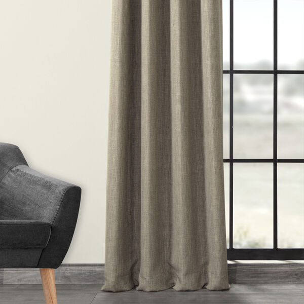 Grey 84 x 50-Inch Polyester Blackout Curtain Single Panel, image 3