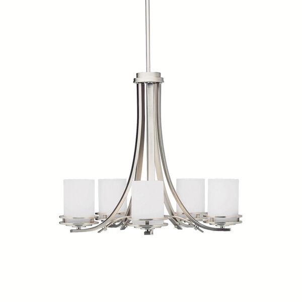 Hendrik Brushed Nickel Five-Light Chandelier, image 1