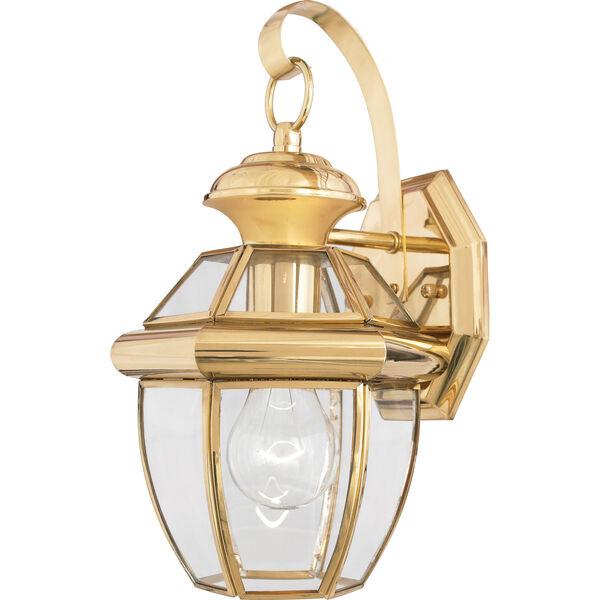 Newbury Small Wall Lantern - Polished Brass, image 1