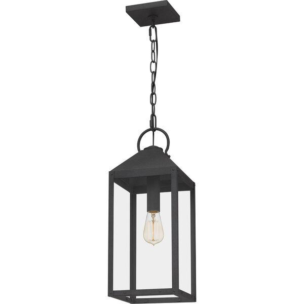 Thorpe Mottled Black One-Light Outdoor Pendant, image 5
