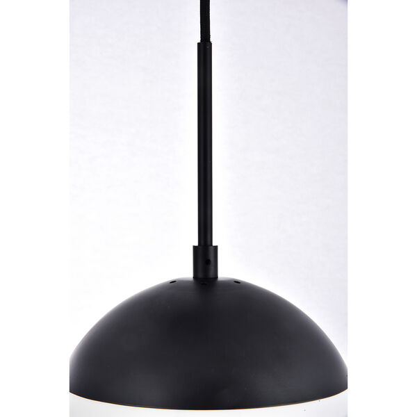 Eclipse Black and Frosted White 18-Inch Three-Light Pendant, image 6