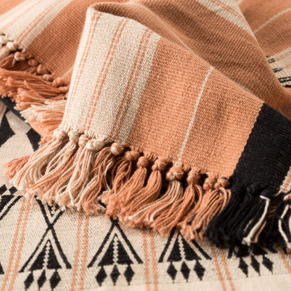 Nagaland Chang Tribal Blush and Beige Hand-Loomed Throw, image 2