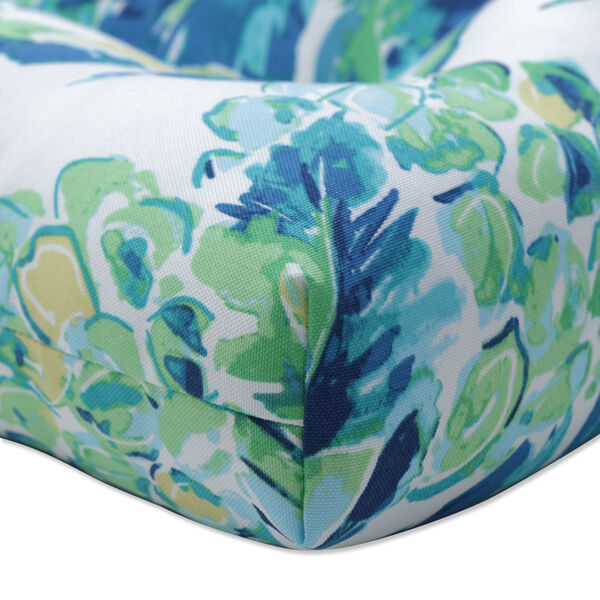 Vida Blue Green White Large Chairpad, Set of Two, image 3