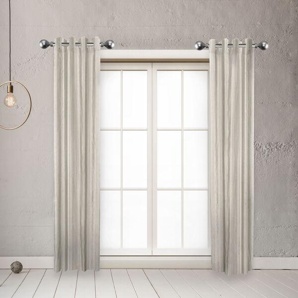 Globe Satin Nickel 20-Inch Side Curtain Rod, Set of 2, image 2