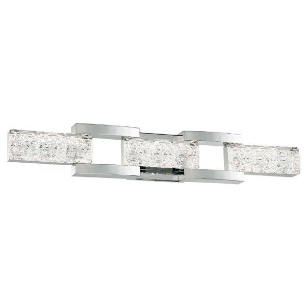 Sofia Polished Nickel 30-Inch LED Bath Light, image 1