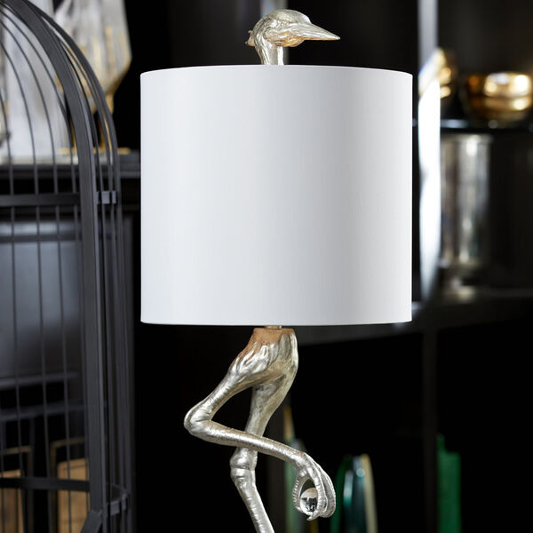 Silver Leaf Ibis Table Lamp, image 3