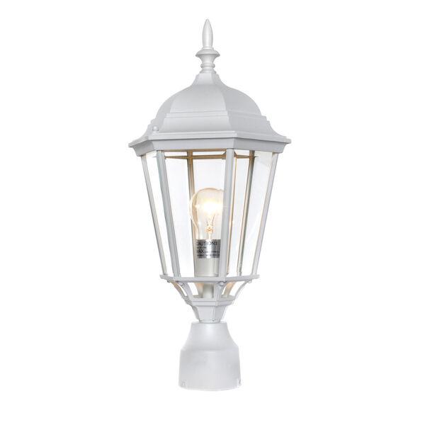 Westlake White Cast One-Light Outdoor Pole/Post Lantern, image 1