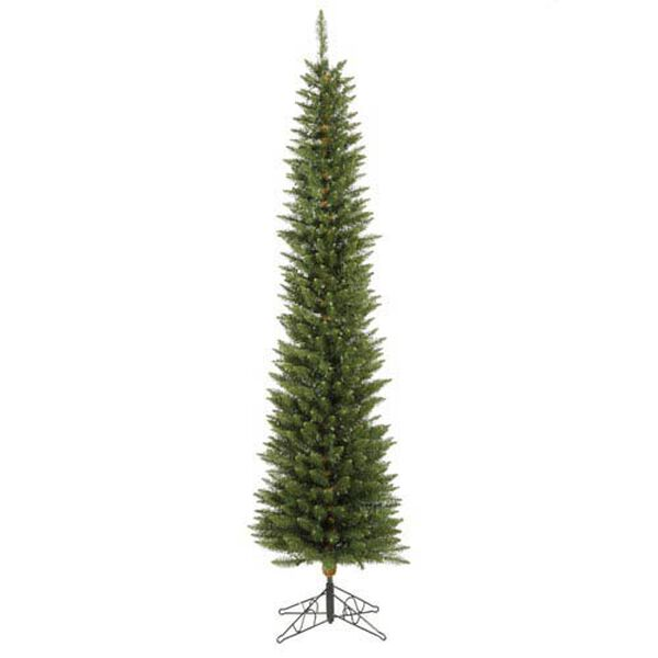 Durham Pole Pine 5.5-Foot Christmas Tree w/150 Multi-color Wide Angle LED Lights and 294 Tips, image 1