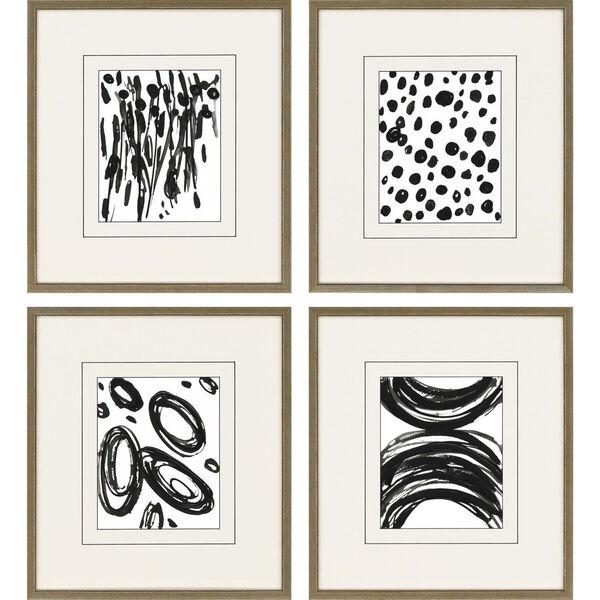 Black 19 H x 17 W-Inch Perception Wall Art, Set of 4, image 2