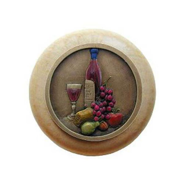 Natural Wood Best Cellar Knob with Brass, image 1