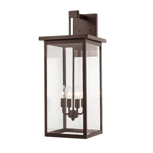 Powder Coat Bronze 11-Inch Four-Light Outdoor Wall Sconce, image 1