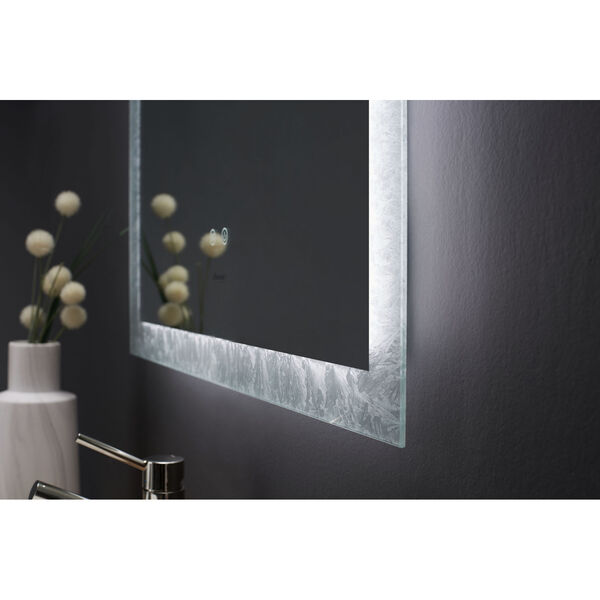 Frysta White 30 x 40 Inch LED Frameless Rectangualar Mirror with Dimmer and Defogger, image 4