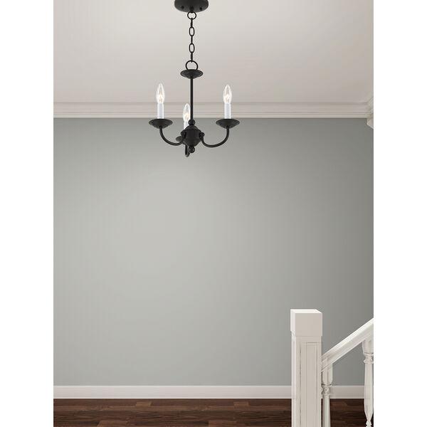Home Basics Black Three-Light Mini Chandelier, image 7
