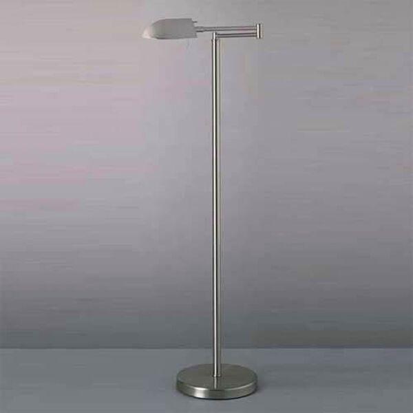 Wah-Hoo Brushed Nickel Swing Arm Floor Lamp, image 1