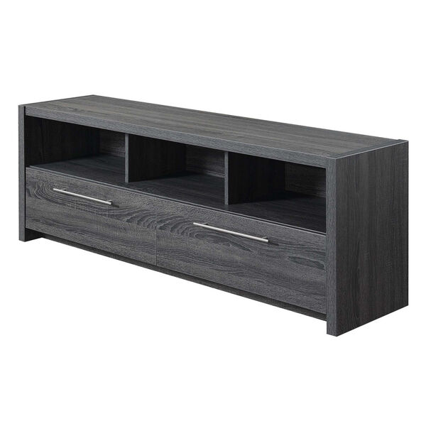 Newport Weathered Gray MDF 60-Inch Marbella TV Stand, image 1